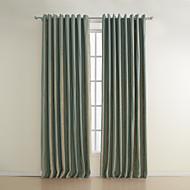 billige Gardiner ogdraperinger-gardiner gardiner Stribe 100% Polyester / Rayon Mønstret