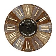 お買い得  壁時計-田園風 ウッド 円形 屋内