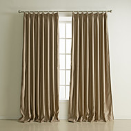 Two Panels Curtain Neoclassical , Embossed Solid Living Room Polyester Material Blackout Curtains Drapes Home Decoration