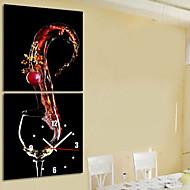 moderne stil vin tema vægur i lærred sæt af 2