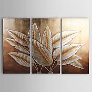 Ручная роспись Цветочные мотивы/ботанический 3 панели Холст Hang-роспись маслом For Украшение дома