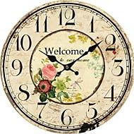țară ceas de perete floral