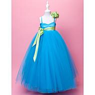 A-line lopta haljina duljina cvijet djevojka haljina - tulle sleeveless spagetti trake by lan ting mladenka ®