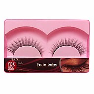 1 Pair Black False Eyelashes Lengthening Thicker Fiber Natural Looking Curved Lashes Eye