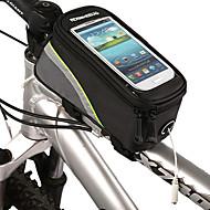 ROSWHEEL Vesker til sykkelramme Mobilveske 5.3 tommers Vanntett Vanntett Glidelås Berøringsskjerm Sykling til Iphone 8 / 7 / 6S / 6
