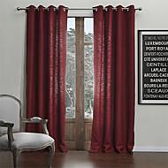 お買い得  カーテン&ドレープ-2つのパネルがクラシックなリネン固体環境に優しいカーテンをフェイク
