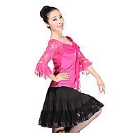 cheap Sale-Latin Dance Outfits Training Lace Tulle Viscose Lace