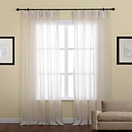 baratos Cortinas Transparentes-Sheer Curtains Shades Riscas Poliéster Jacquard