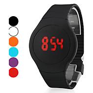 billige Sportsur-Herre Digital Armbåndsur Touch-skærm Kalender LED Silikone Bånd Kreativ Sort Hvid Rød Orange Grøn Lilla