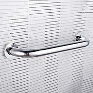 "Grab Bar Chrome Wall Mounted 336 x 10 x 60mm (13.25 x 0.4 x 2.4"") Brass Contemporary"