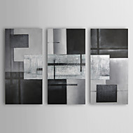 Hand-Painted AbstractClassic Three Panels Canvas Oil Painting For Home Decoration