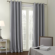 To paneler Window Treatment Neoklassisk , Stribe Stue Polyester Materiale gardiner gardiner Hjem Dekor For Vindu