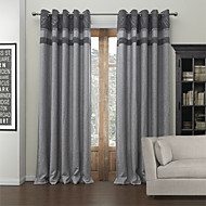 To paneler Window Treatment Moderne , Solid Stue Poly/ Bomull Blanding Materiale Blackout Gardiner Hjem Dekor For Vindu