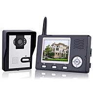 billige Dørtelefonssystem med video-Trådløst nattsyn-kamera + 3.5 tommers dør telefon skjerm