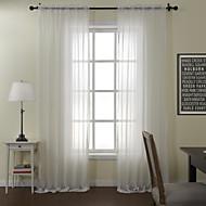 Twee panelen Window Behandeling Modern , Effen Eetkamer Polyester/Katoen Mix Mengvezel Poly en Katoen Materiaal Vitrages Shades