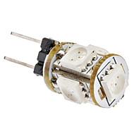 billige Bi-pin lamper med LED-SENCART 1W 360-400 lm G4 LED-kornpærer 5 leds SMD 5050 Rød DC 12 V AC 85-265V