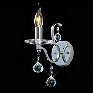 billige Krystall Vegglys-QINGMING® Moderne / Nutidig Metall Vegglampe 110-120V / 220-240V Max 60W