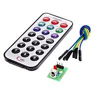 módulo receptor de IR kit de controle remoto sem fio para (para arduino) (1 x CR2025)