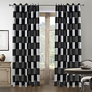 To paneler Window Treatment Middelhavet , Pledd / Tern Stue Polyester Materiale gardiner gardiner Hjem Dekor For Vindu