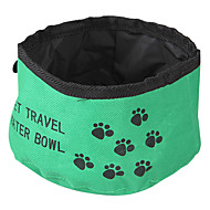 Cat Dog Bowls & Water Bottles Pet Bowls & Feeding Foldable Red Green Blue Textile