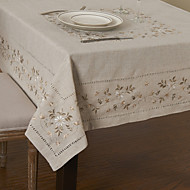 cheap Table Linens-Modern Linen / Cotton Blend Square Table Cloths Cotton Blend Aquare Table Cloths