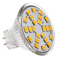 billige Spotlys med LED-2700 lm GU4(MR11) LED-spotpærer MR11 24 LED perler SMD 2835 Varm hvit 12 V