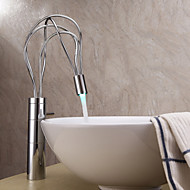 billige Sprinkle®-kraner-Sprinkle® Baderomskraner  ,  Moderne  with  Krom Enkelt Håndtak Et Hull  ,  Trekk  for LED / Senter-sett