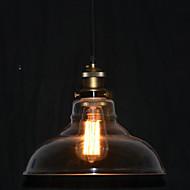 Şeffaf Gölge yılında Kuzey Amerika-Style Bronz 1 Işık Kolye
