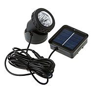 6-LED Vandtæt White Light Solar Powered Spotlight Have Udendørs Flood Lamp (CIS-57.157)
