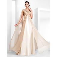 Kappe / søjle en skulderlængde chiffon aftenkjole med perle af ts couture®