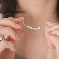 Kadın's Kristal Suda Yatma Uçlu Kolyeler Kristal Bayan Moda Dubai Gümüş Kolyeler Mücevher Uyumluluk Parti Günlük