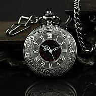 남성용 회중 시계 석영 합금 밴드 빈티지 블랙