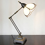 billige Lamper-Swing Arm bordlampe, en lys, Tiffany Iron Glass Painting