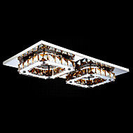 umei ™ geleid kristal inbouw, 2 licht, modern amber galvaniseren roestvrij staal