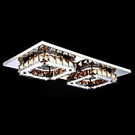 UMEI™ LED Crystal Flush Mount, 2 Light, Modern Amber Electroplating Stainless Steel