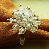 Cristal Guardanapo Ring, Acrílico