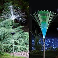 1 led luz colorida leve luz solar de fibra óptica fonte de iluminação jardim
