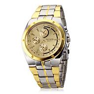 preiswerte -Herrn Armbanduhr Quartz Armbanduhren für den Alltag Legierung Band Analog Charme Silber / Gold - Weiß Schwarz Goldenschwarz Zwei jahr Batterielebensdauer / SOXEY SR626SW