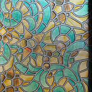 幾何学模様 クラシック風 ウィンドウフィルム,PVC /ビニール 材料 窓の飾り