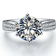 Ringer Dame Diamant Sølv / Sterling Sølv / Platin Belagt Sølv / Sterling Sølv / Platin Belagt Kjærlighed 5 / 6 / 7 / 8 / 8½ / 9 / 9½ Klar