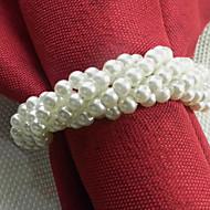 Forma Pulseira Acrílico Guardanapo Ring, Dia4.2-4,5 centímetros conjunto de 12, cor aleatória