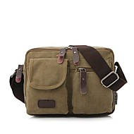 Men Bags Canvas Shoulder Bag for Casual All Seasons Black Coffee Brown Green Khaki