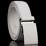 Masculino Vintage Trabalho Casual Pele Genuína Liga Cinto para a Cintura,Sólido Branco