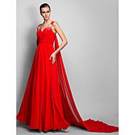 A-line princeze trake duljina krofona večernje haljine s beading by ts couture ®