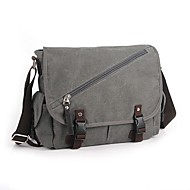 cheap Satchels-Men Women Bags Canvas Shoulder Bag Buttons for Casual Spring All Seasons Black Gray Brown Cream Khaki