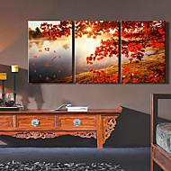 billige Veggklokker-moderne stil høy klasse maple leaf veggur i lerretet sett av tre