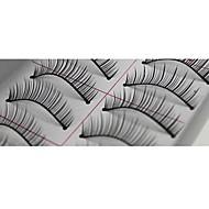 10 זוג ריסים מלאכותיים באיכות גבוהה עבודת יד סיבים סינטטיים לשיער טבעי דק וארוך סגנון Pro