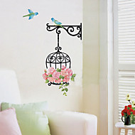 Birdcage Flower Wall Stickers Removable Home Decoration PVC For Kid Room Part 44