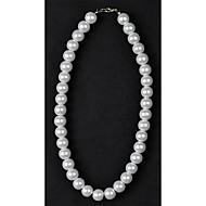 Dame Perle Lyserød Strands halskæde / Perlehalskæde - Perle, Imiteret Perle Sølv / Sort, Krystal Halskæder Til Bryllup, Daglig, Afslappet