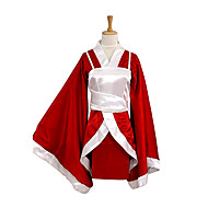 Inspirovaný LOL Akari Video Hra Cosplay kostýmy Cosplay šaty / Kimono Patchwork Czerwony Dlouhé rukávy Kimono / Vesta